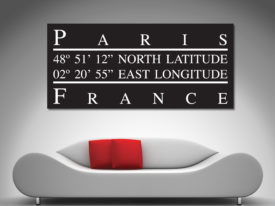 Paris Longitude Wall Art