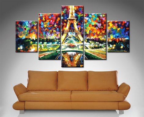 Paris of My Dreams 5 Panel Canvas Print