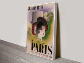 Paris Art Deco Vintage Poster.