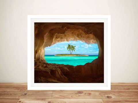 Peeking at Paradise Framed Wall Art