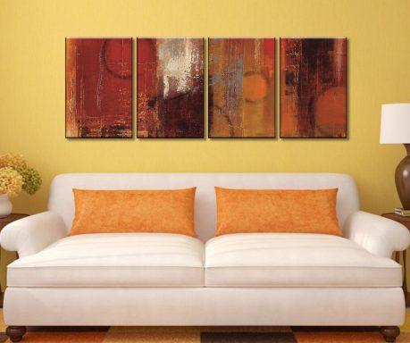 Pentatonic Crop Four Panel Cheap Canvas Prints