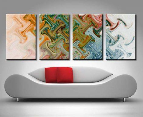 Perception of Peace 4 Panel Art