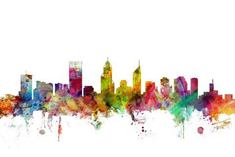 Perth Australia Skyline Canvas Picture