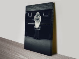 Piano Glamour Black and White Canvas Print