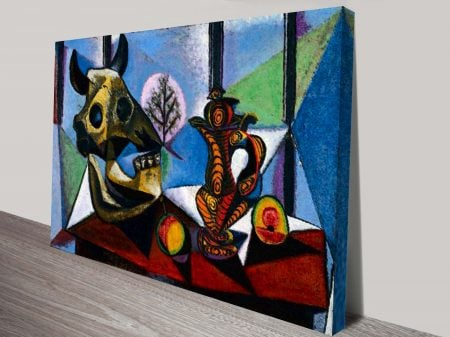 Bull Skull Fruit Pitcher By Pablo Picasso Classical Wall Art On Canvas