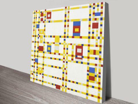 Piet Mondrian Broadway Boogie Woogie Wall Art Print