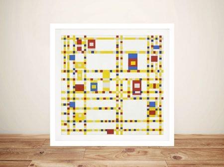 Piet Mondrian Broadway Boogie Woogie Wall Art