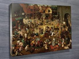 Pieter Bruegel The Battle Between Carnival And Lent Classical Wall Art On Canvas