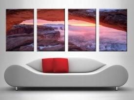 Pink Canyon Sunset 4 Panel