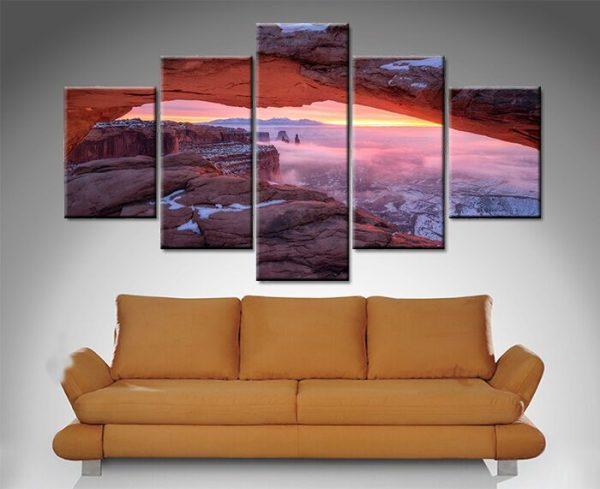 Pink Canyon Sunset 5 Panel