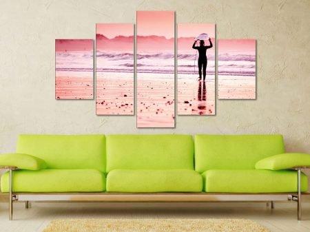 Pink Surfer 5 Panel