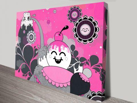 Pink Explosion graffiti print