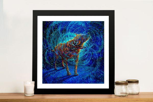 Polarized Iris Scott Framed Wall Art