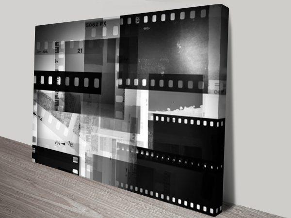 Abstract Polaroid Negative Art on Canvas