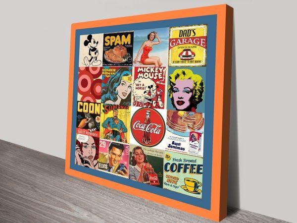 Vintage Pop Art Canvas Print
