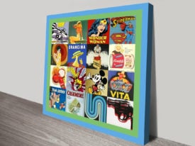 Retro Pop Art 2 Canvas Wall Art Pictures and Prints