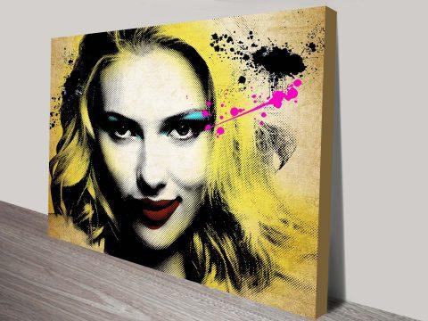 Pop Art Scarlett Johannson Wall