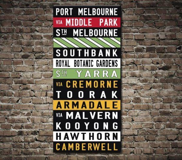 Port Melbourne Coloured Old Tram scroll Replica