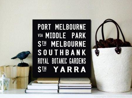 Port Melbourne Square Tram Scrolls