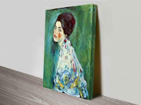 Portrait Of A Lady Klimt Wall Art On Canvas
