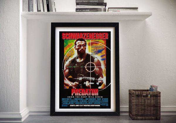 Predator Movie Poster Framed Wall Art