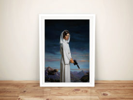 Princess Leia Portrait Fan Art Framed Wall Art