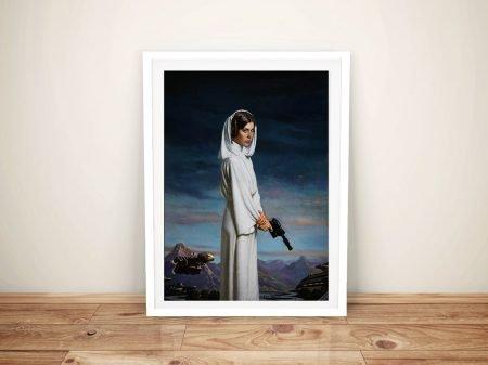 Princess Leia Portrait Fan Art Framed Wall Art