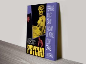 Psycho Movie Poster Canvas Print