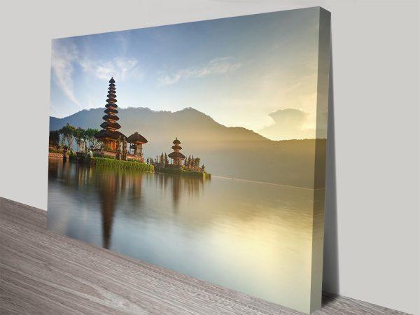 Pura Ulun Danu Bratan Temple Indonesia Tranquility Canvas Wall Art