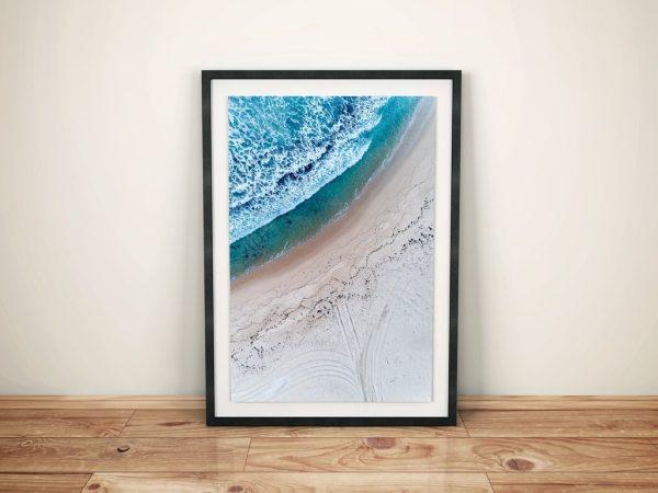 Pyramids Top Down Beach Framed Perth Art Prints