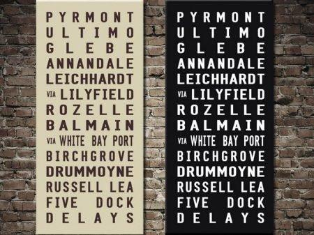 Pyrmont tram destination scroll
