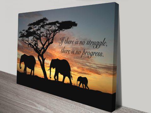 No Struggle inspirational quote wall art