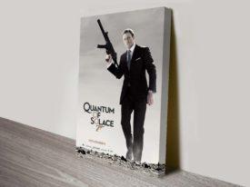Quantum of Solace Movie Poster Canvas Print