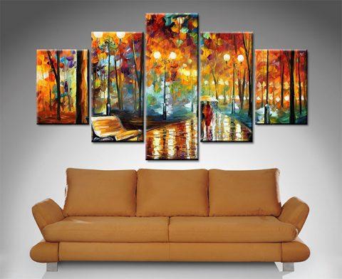 rain rustle leonid afremov split canvas print