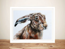 Rabbits Glare Watercolour Painting Print