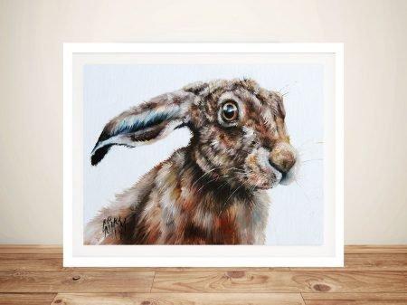 Rabbits Glare Watercolour Painting Print