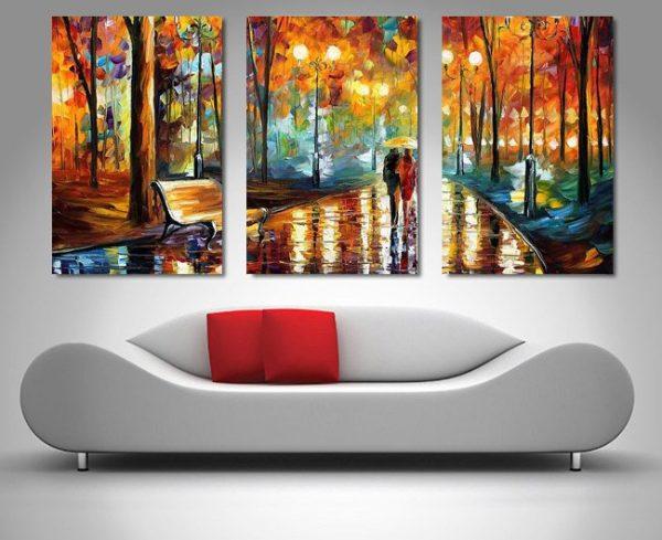 Buy Rain's Rustle Triptych Art by Leonid Afremov