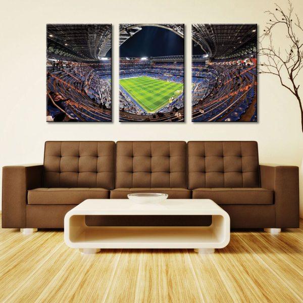 Real Madrid Santiago Bernabeu Stadium 3 Panel