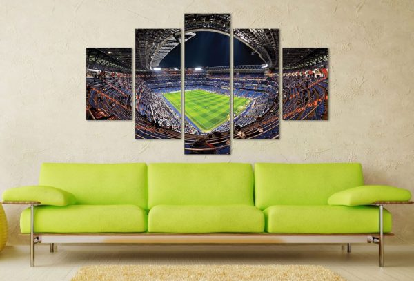 Real Madrid Santiago Bernabeu Stadium 5 Panel