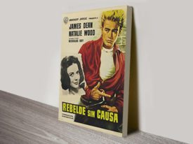 Rebel without a Cause Movie Poster Canvas Print