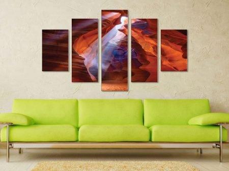 Red Cavern 5 Panel