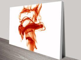 Red Swirls wall art Australia