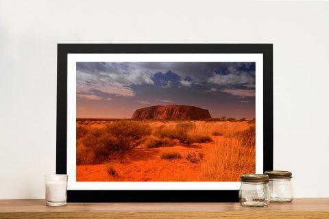 Uluru Australian Landscape Picture Framed Wall Art