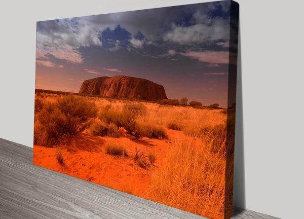 Australian Landscape Photo Art Wall Print Uluru Australia