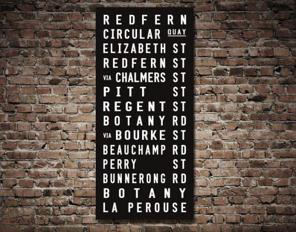 Redfern Tram Scroll Destination Print