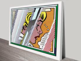 Reflections On Girl By Roy Lichtenstein Vintage Pop Art