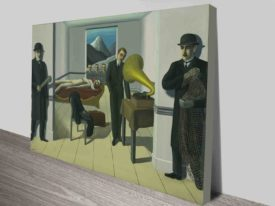 Rene Magritte The Menaced Assassin Canvas Art Print