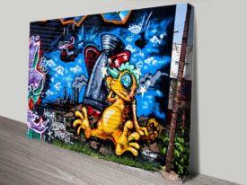 Reptile Warfare graffiti canvas