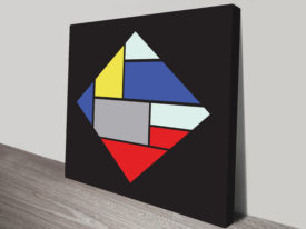 Retro Geometric canvas Prints Art