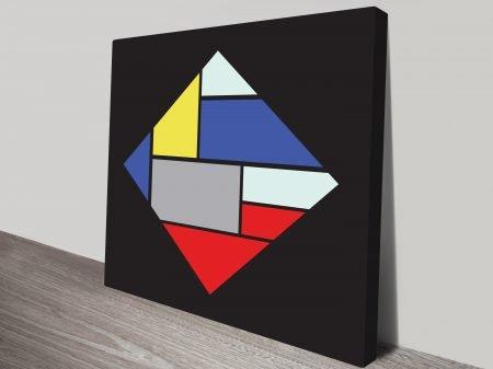 Retro Geometric canvas Prints Art